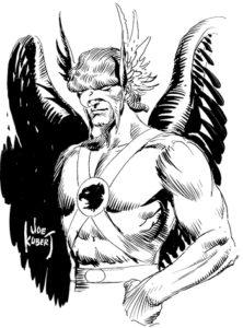 joe kubert hawkman drawing pen ink golden age comic book